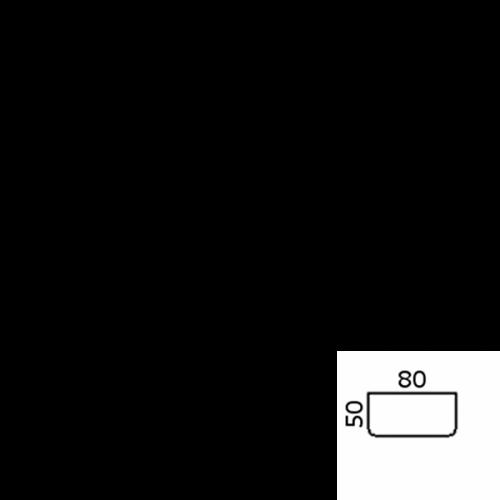 80x50 cm afrundet (12486)