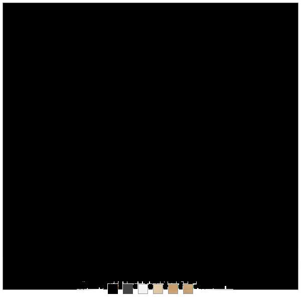 Dencon hæve sænkebord - 6 farver