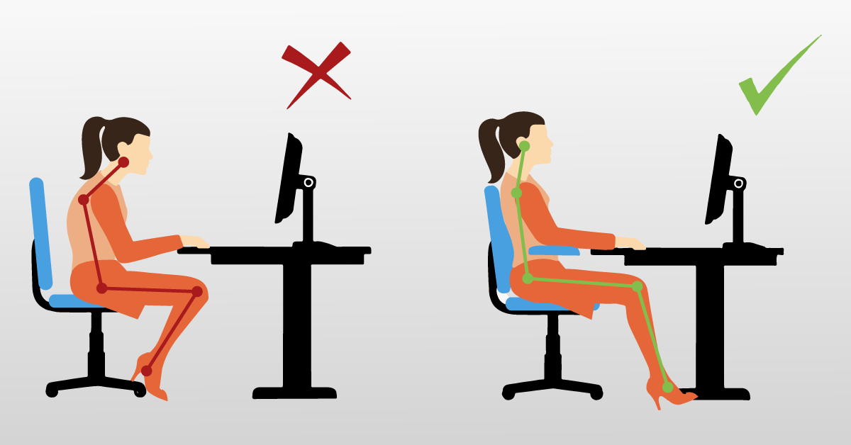 Sådan sidder du rigtigt bagved computerskærmen