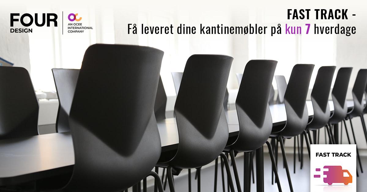 Læs mere om Four Designs kantinestole og kantineborde med Fast Track levering