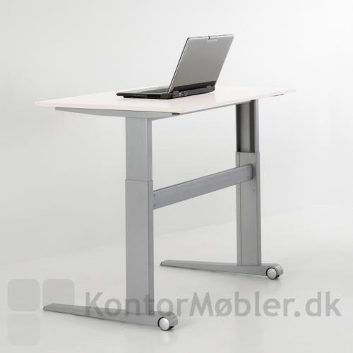 Smalt 501-17 stel med bordplade i hvid laminat