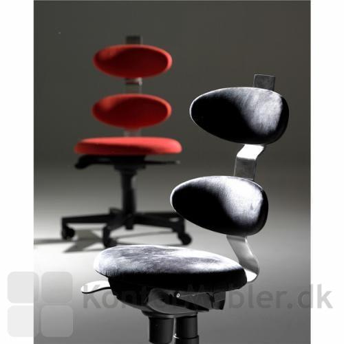 Spinella kontorstolen i sort og lækkert lys