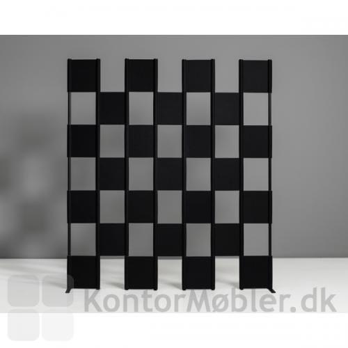 Zon skærmvæg med sort filt