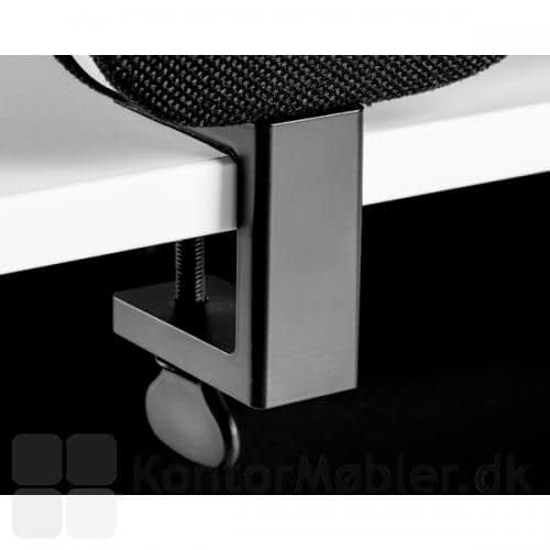 Edge koblingsbeslag til bordskærm, sort