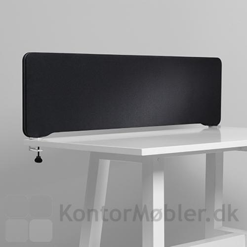 Edge bordskærm i sort
