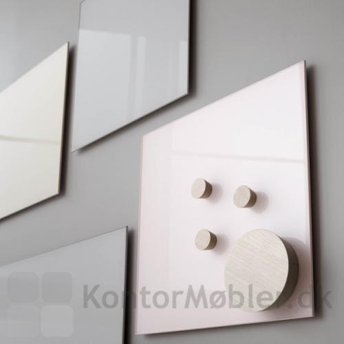 Magneter i birk til Mood glastavler, magneterne kan også bruges til whiteboard tavler