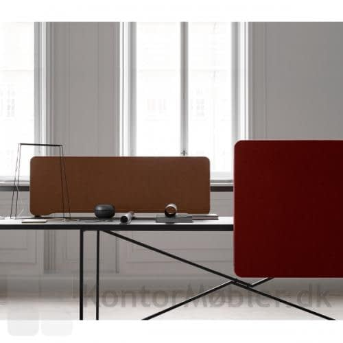 Edge Topmonteret bordskærm sammen med Frontmonteret