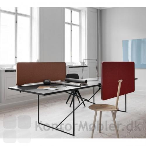 Kombination af front og top monteret bordskærm