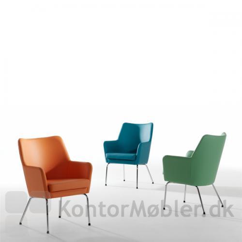 Uni stole i forskellige farver i læder