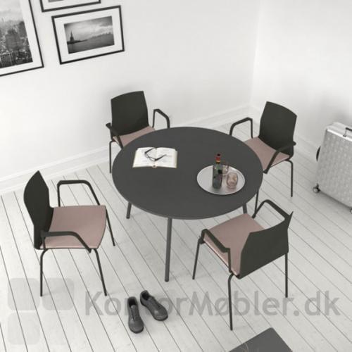 Sæde polstret four cast 2 four stole med loop armlæn