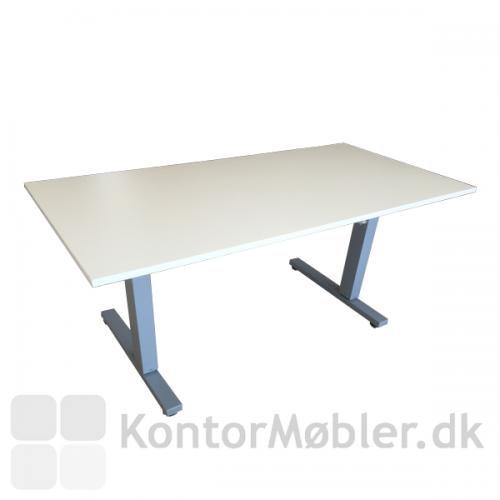Square bord med hvid bordplade