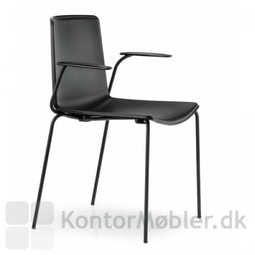 Tweet stolen kan vælges med ensfarvet sæde i farverne sort, hvid, orange eller beige