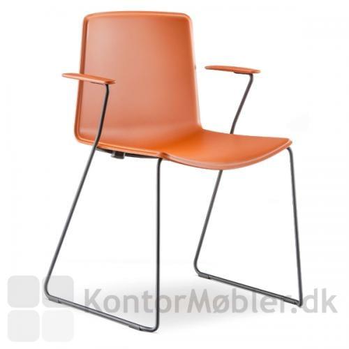 Tweet stolen med meder og armlæn i sort og ensfarvet sæde
