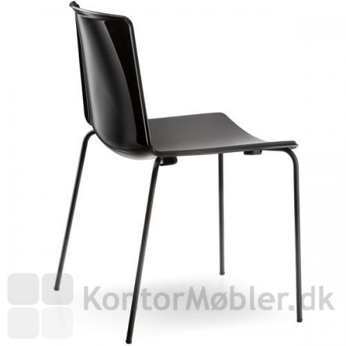 Tweet stol i sort, bemærk den blanke ryg