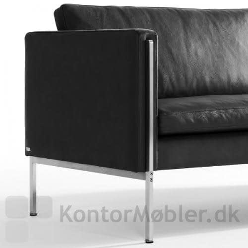 Capri sofa i sort læder