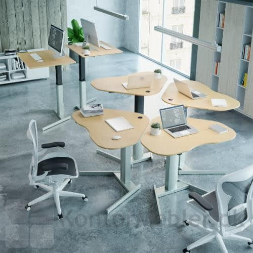 Conset 501-19 hæve sænke bord kan vælges med flere pladestørrelser