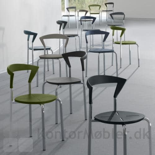 Opus stolene kan vælges i flere farver - se de aktuelle farver på siden