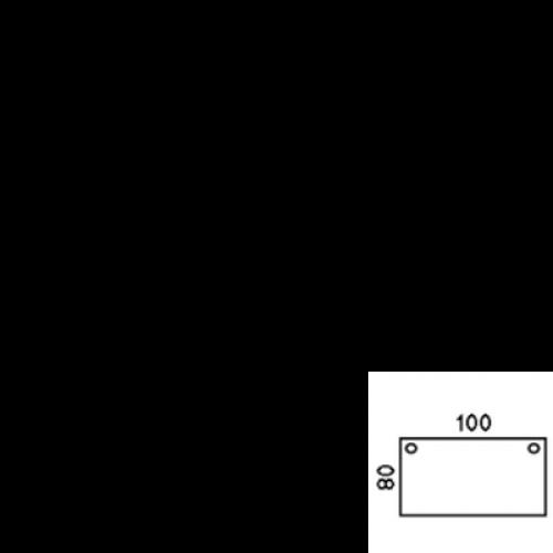 100x80 cm (100-80S)
