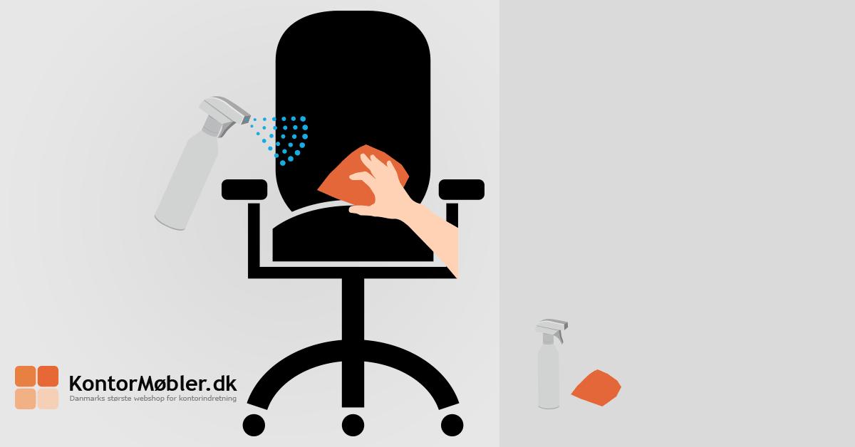 Sådan rengører du kontorstol polstring stof
