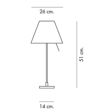 Costanzina bordlampe højde 51 cm
