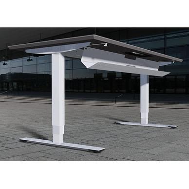Delta hæve-sænkebord med kabelbakke der er nem at betjene