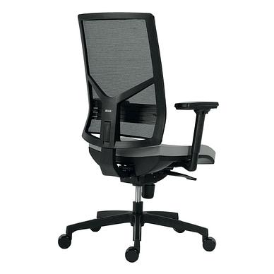 Omnia kontorstol med armlæn og sort netryg