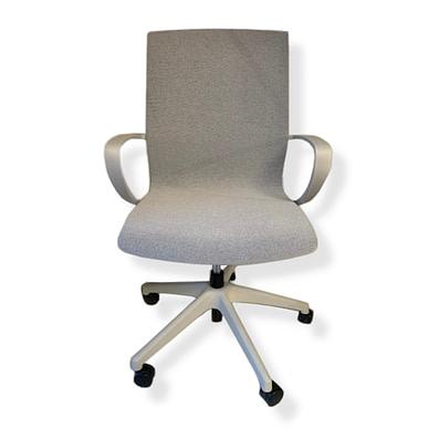 Vision kontorstol med lysegrå polstring