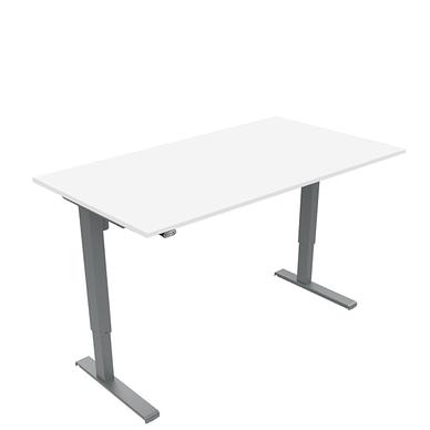 Basic hæve sænkebord med bordplade i hvid laminat