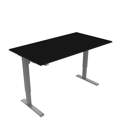Basic hæve sænkebord med bordplade i sort laminat