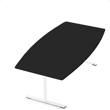 Delta konferencebord i sort linoleum